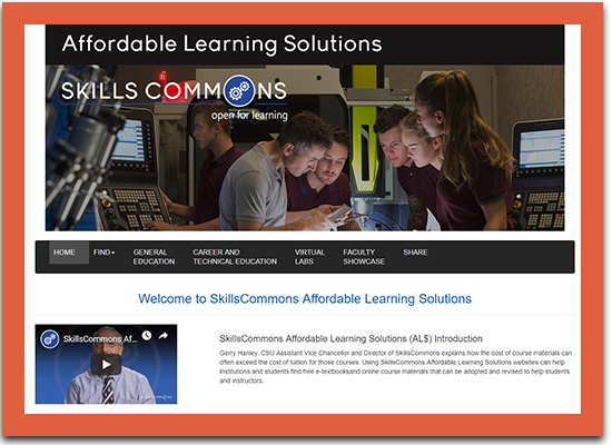 SkillsCommons Affordable Learning Solutions
