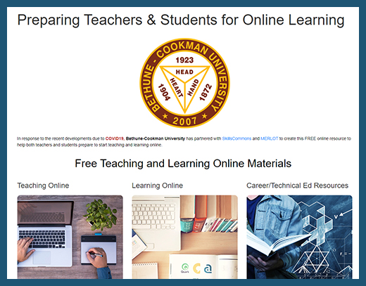Bethune - Teaching and Learning Online Website