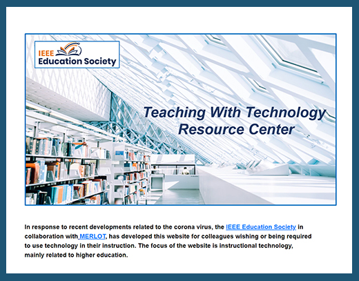 IEEE Teaching With Technology Resource Center