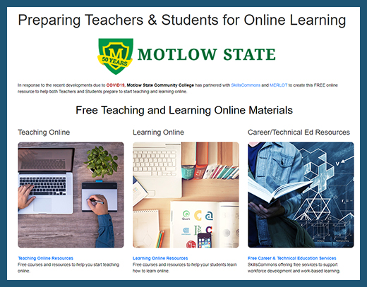 Motlow State - Teaching and Learning Online Website