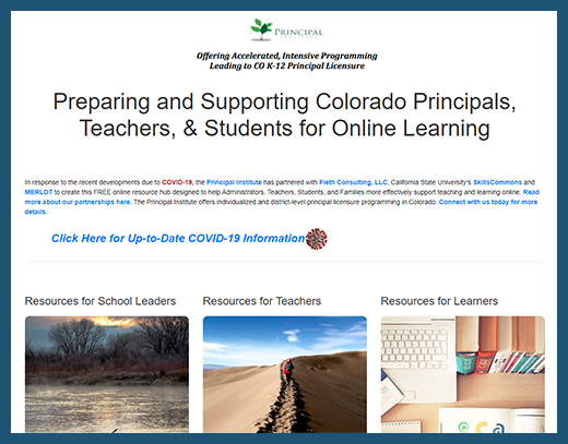 Principal Institute - Teaching and Learning Online Website