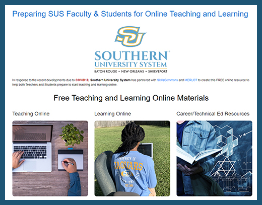 Southern University - Teaching and Learning Online Website