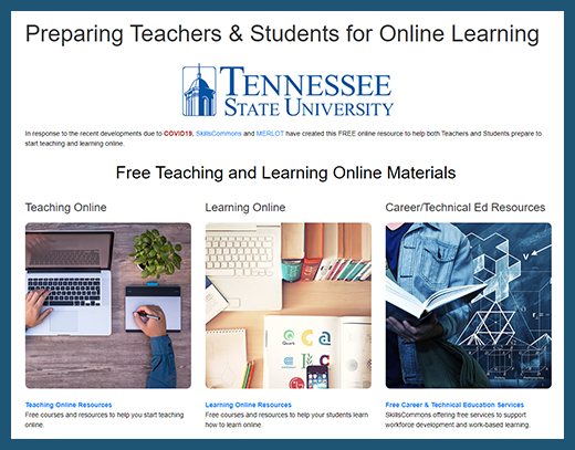 Tennessee State University - Teaching and Learning Online Website
