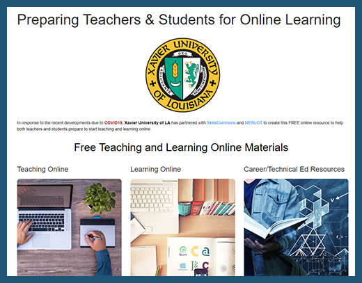 Xavier - Teaching and Learning Online Website
