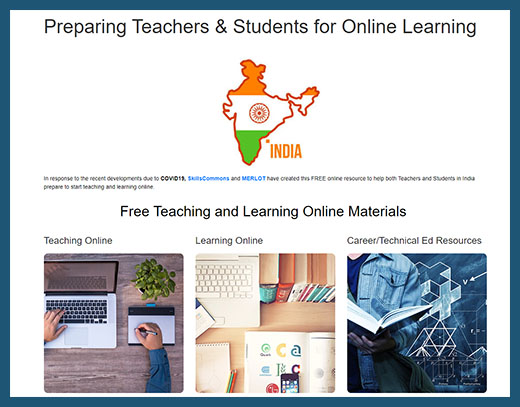 India Teaching and Learning Online